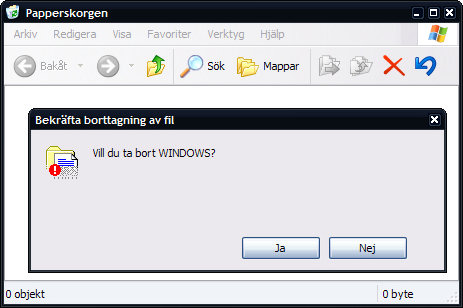 Vill du ta bort Windows?