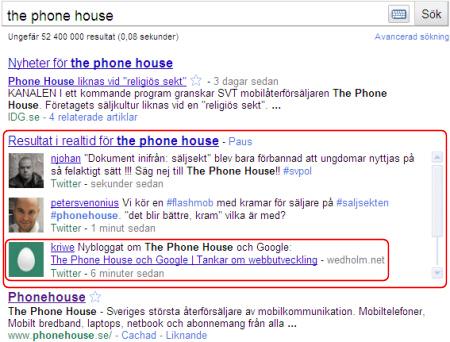 The Phone House på Google