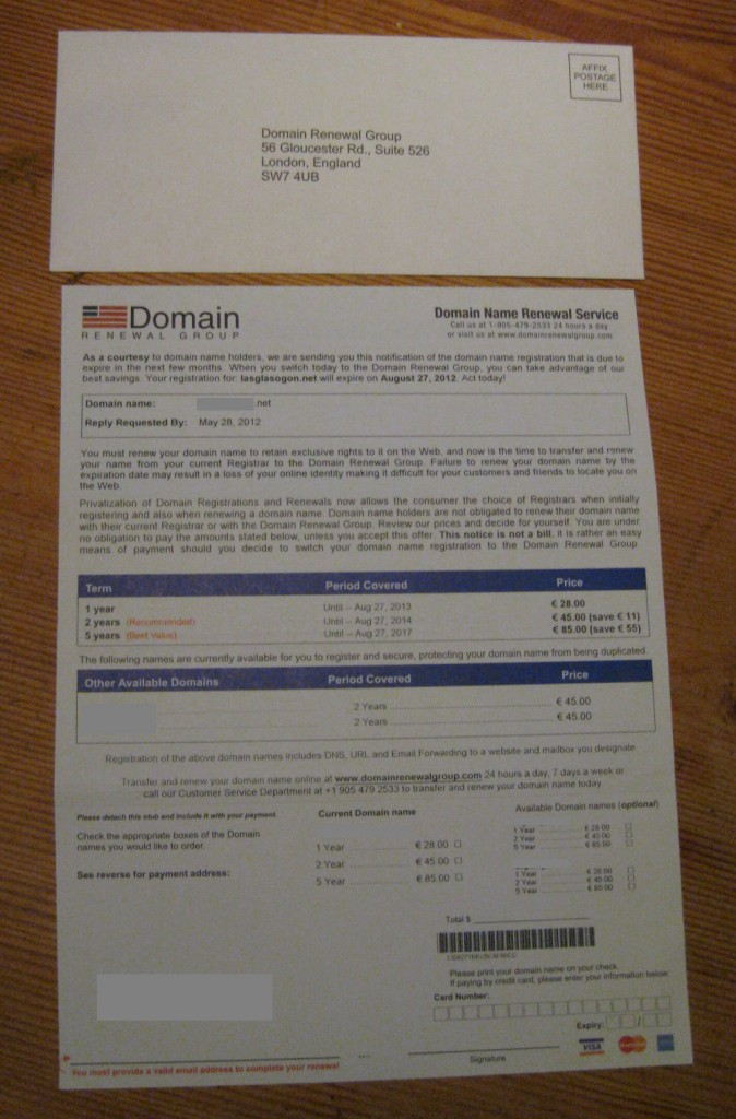 Domain Renewal Group