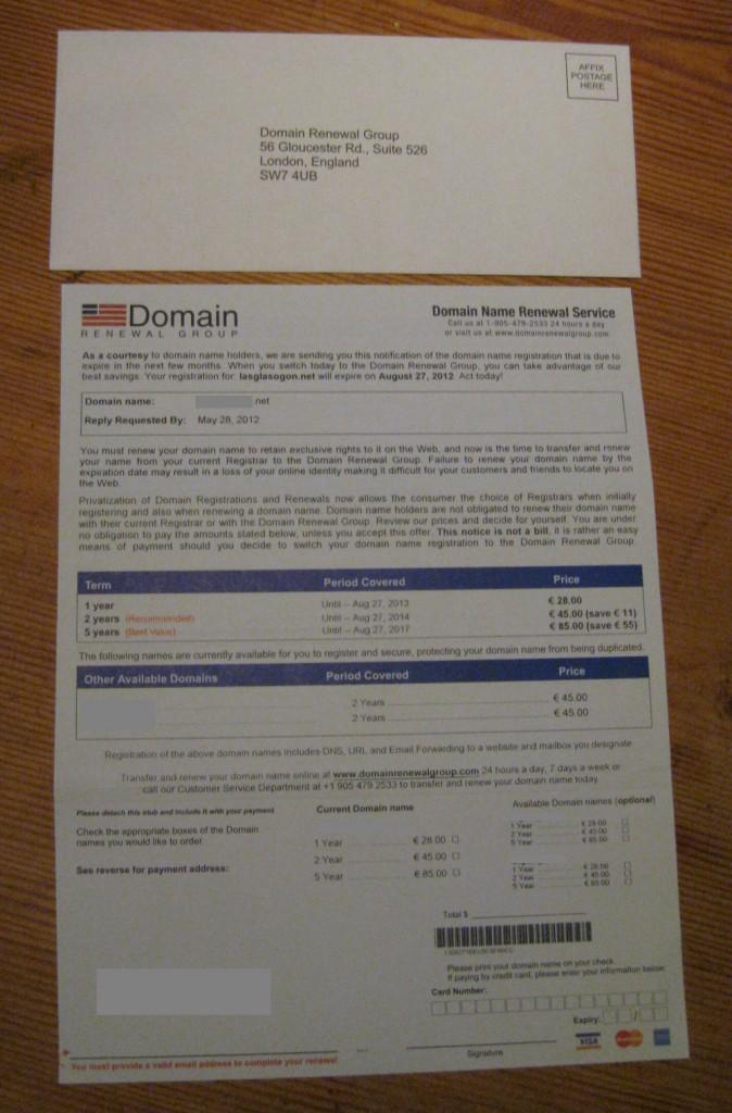 Domain Renewal Group